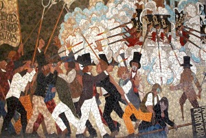 Chartists Mural, Newport, Wales (mosaic by Kenneth Budd, 1978)