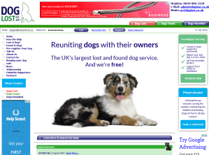 Award winning DogLost - reuniting lost dogs with their owners