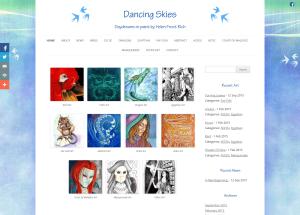 Dancing Skies - fantasy art