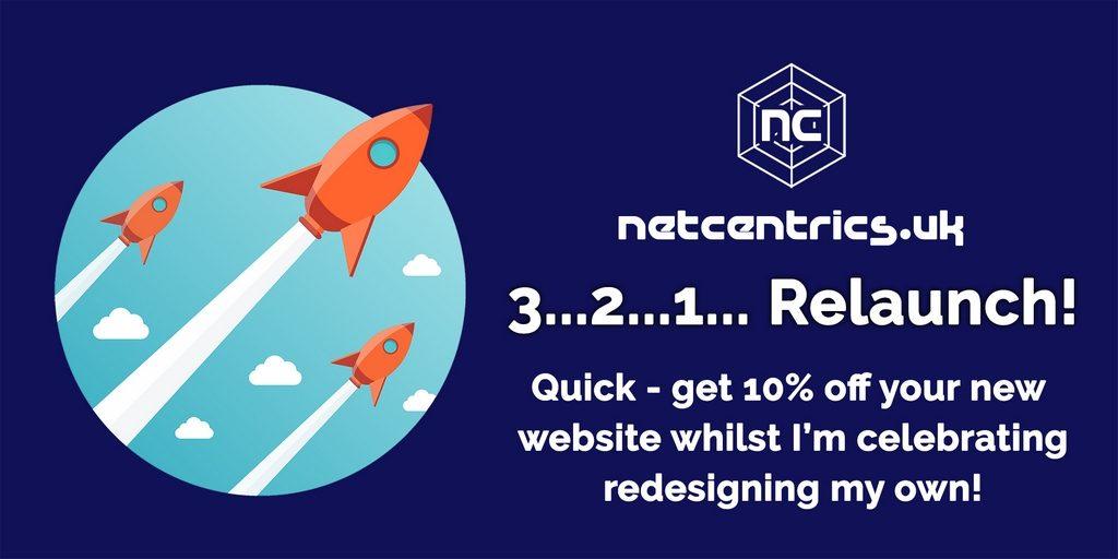 Netcentrics.co.uk relaunch offer