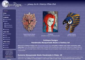Xothique Designs (portfolio: web design & web development)